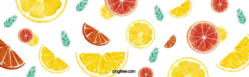 Màu nền hoa văn màu nước trái cây chanh tươi mát mùa hè Mùa Hè Chanh Hình Nền