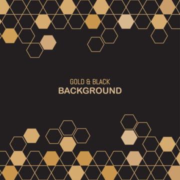 ゴールドと黒六角形抽象的な背景 , 抄録, アート, 背景 背景画像