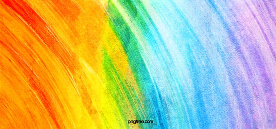 gradual texture background of rainbow water chalk brush, Rainbow, Rainbow Background, Orange Background image