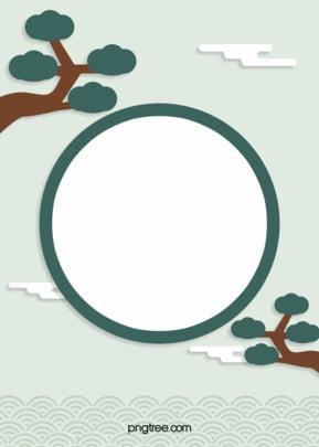 हरे रंग की पारंपरिक कोरियाई सुरुचिपूर्ण कागज कटौती क्लासिक पृष्ठभूमि , पारंपरिक, Decoupage, पेड़ पृष्ठभूमि छवि