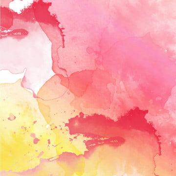 लाल पीले रंग के पानी के रंग पृष्ठभूमि वेक्टर , सार, पानी के रंग का सार, कलात्मक पृष्ठभूमि छवि