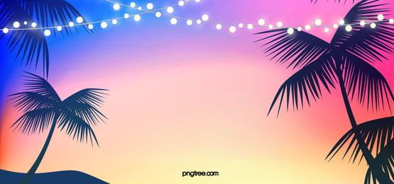 fundo romântico de verão, Fundo, Fundo De Festa Na Praia, Celebração Imagem de fundo
