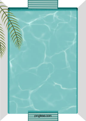 simple hand painted cool square swimming pool background , Summer, Slipper, Square Background image