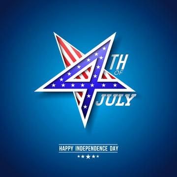 जुलाई स्वतंत्रता दिवस के 4 संयुक्त राज्य अमेरिका के वेक्टर चित्रण के साथ 4 संख्या में स्टार प्रतीक जुलाई के चौथे राष्ट्रीय उत्सव डिजाइन अमेरिकी झंडा पैटर्न के साथ नीले रंग की पृष्ठभूमि पर के लिए बैनर ग्रीटिंग कार्ड निमंत्रण या छुट्टी पोस्टर , 3 डी, चौथा, सार पृष्ठभूमि छवि