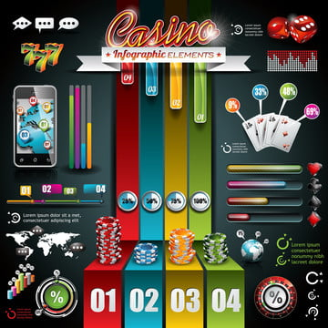 vector casino infographic set with world map and gambling elements , Illustration, Background, Casino Background image