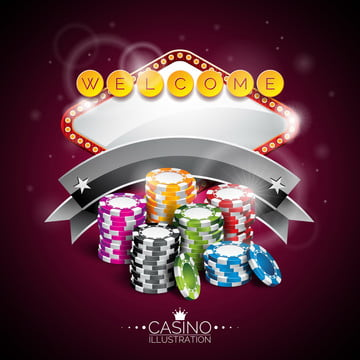 vector illustration on a casino theme with lighting display and playing chips , Leisure, Illustration, Game Background image