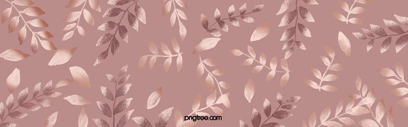 手描き質感ローズゴールドの花卉植物背景 優雅な飾り花 プリント だんだん変わっていく 背景画像