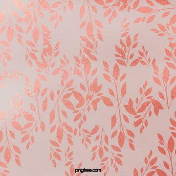 로즈 골드 장식 화훼 식물 , 우아한 장식 화훼, 도안 인쇄, 식물 배경 배경 이미지