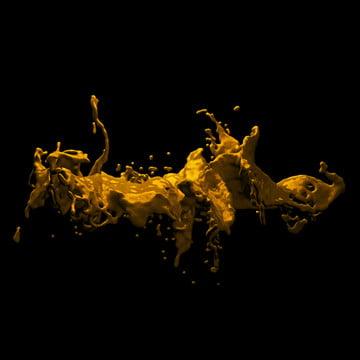 3 डी तरल सोने , सार, एक्रिलिक, कला पृष्ठभूमि छवि