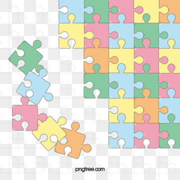 Cute cartoon puzzle background color Crianças Puzzle Desenhos Imagem Do Plano De Fundo