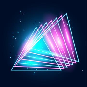 líneas de neón brillando techno , 1980, 80, Resumen Imagen de fondo