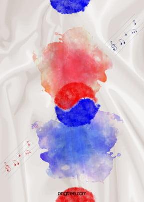 कोरियाई मिश्रण के ताई ची संगीत झंडा पृष्ठभूमि , कोरिया राष्ट्रीय, बैनर, प्रतिपादन पृष्ठभूमि छवि