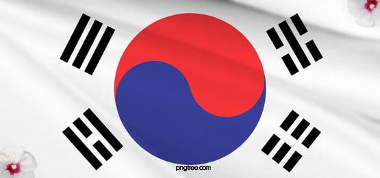 background of korean taiji banner, Tai Chi, Taegukgi, Flag Background image