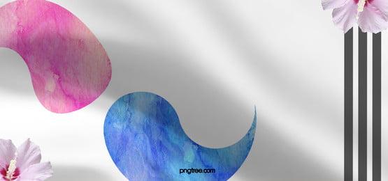 creative background of taiji banner brush in korea, Tai Chi, Taegukgi, Flag Background image