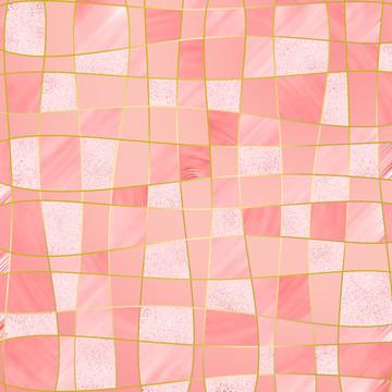 帶馬賽克風格的少女粉色背景 , 摘要, 背景, 背景 背景圖片