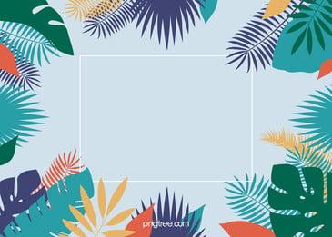 夏日棕櫚葉背景, 夏天, 多彩, 棕櫚葉 背景圖片