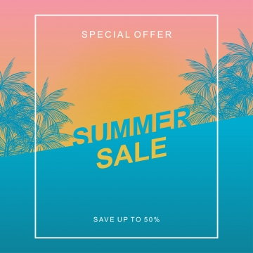 summer sale banner template with sunset theme , Background, Banner, Summer Background image