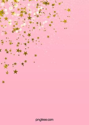 estrelas douradas sobre fundo cor   de   rosa , Spot, Comemorar, As Estrelas Imagem de fundo