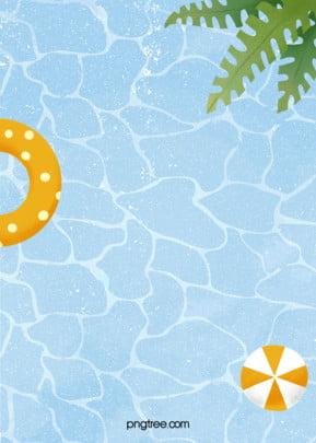 गर्मी में पूल के पानी की लहर पृष्ठभूमि , पत्ते, गर्मियों में, संयंत्र पृष्ठभूमि छवि
