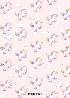 bằng tay dẹt màu hồng đáng yêu các hình nền hoạt hình kỳ lân , Những đám Mây, Dễ Thương, Bằng Tay Ảnh nền