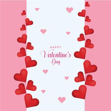 गुलाबी वेलेंटाइन दिन दिल के वेक्टर डिजाइन , सार, कला, पृष्ठभूमि पृष्ठभूमि छवि