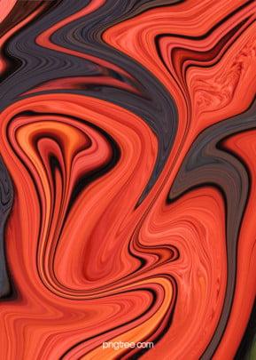 トレンドの赤と黒のグラデーション油絵の流動背景 , 油絵, 流体, だんだん変わっていく 背景画像