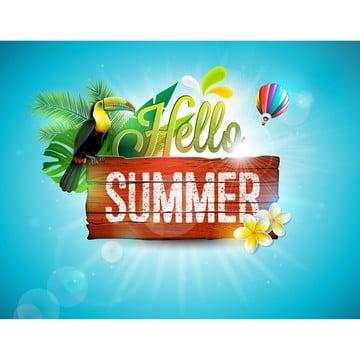 你好暑假排版 , 三維, 空氣, 藝術 背景圖片