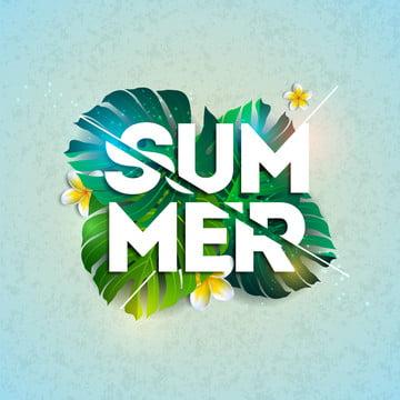 여름 방학 활자 컷 이국 잎 , 소리, 예술, 배경 배경 이미지