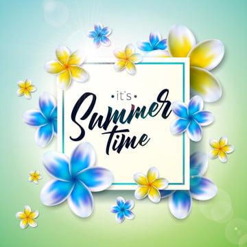 ilustração do tempo de verão com flor sobre o ambiente ambiente ambiente férias tropicais , Acústico, Arte, Fundo Imagem de fundo