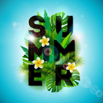 벡터 여름 방학 활자 삽화 , 소리, 예술, 배경 배경 이미지