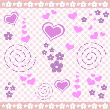 배경 마음 꽃  핑크색 보라색 , 여자 아이가, 아기가 목욕한, 배경 배경 이미지