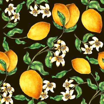 レモンシームレスなパターンの手水彩画で塗装 アート 秋 背景 背景画像