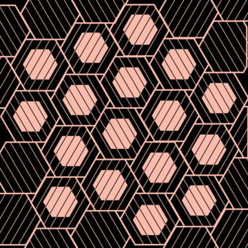 バラのゴールド幾何学的モザイクデザイン 抄録 記念日 アート 背景画像