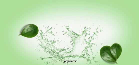 Simple Background Of Cross-realism Between Water And Plants, Leaf, Plant, Splash Effect, Background image