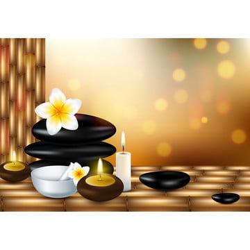 configurado para tratamentos de spa ilustração vetorial de um estilo realista , Aroma, Aromaterapia, Ayurveda Imagem de fundo