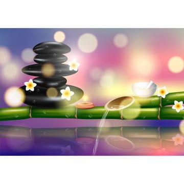 सेट के लिए स्पा उपचार वेक्टर चित्रण की एक यथार्थवादी शैली , सुगंध, Aromatherapy, आयुर्वेद पृष्ठभूमि छवि
