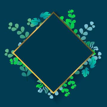 वानस्पतिक हरियाली पत्ते फ्रेम  पृष्ठभूमि फ्रेम पृष्ठभूमि के साथ उष्णकटिबंधीय पत्ते आभूषण , पृष्ठभूमि, बैनर, सुंदर पृष्ठभूमि छवि