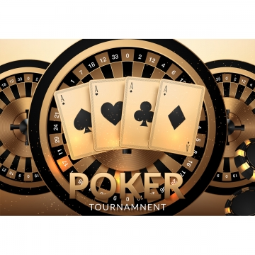 casino gambling tournament template design with realistic playin , Casino, Play, Gamble Background image