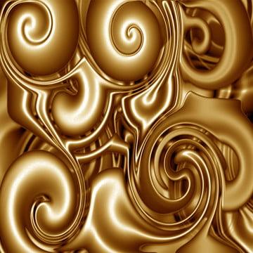 गोल्डन तरल भंवर में चल swirls , सार सोने के, छोटी बूंद, गोल्डन पृष्ठभूमि पृष्ठभूमि छवि