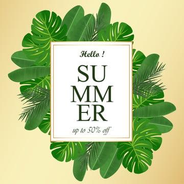 熱帯の葉の背景と夏の花のフレーム , 抄録, 背景, 旗 背景画像