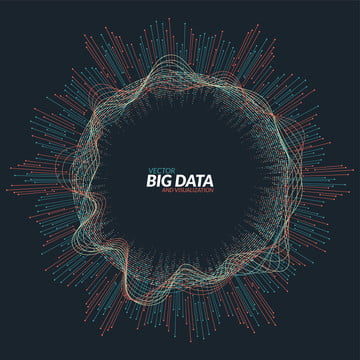 vector abstract round big data visualization  futuristic infogra , Background, Data, Digital Background image