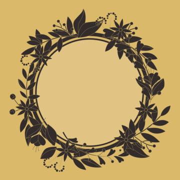 검은  김 원형 틀 , 검은 금, 경계, 컬러 배경 이미지