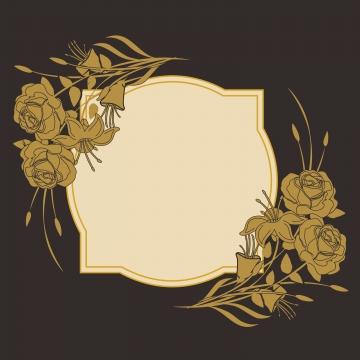 금 상자 꽃 , 검은 금, 경계, 컬러 배경 이미지