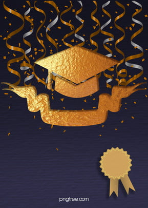 golden commemorative decoration for graduation doctors hat in graduation season , Doctorial Hat, School Work, Celebrating Background image