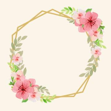 quadro hexagonal das flores , Limites, Colorido, Floral Imagem de fundo