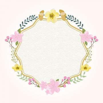 富金花框 , 邊界, 豐富多彩的, 花的 背景圖片