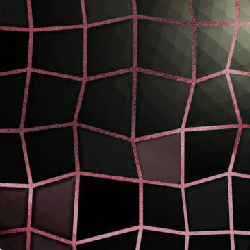 不均勻的方形黑粉灰色瓷磚和玫瑰金灌漿馬賽克 , 黑色, 閃光的, 薄泥漿 背景圖片