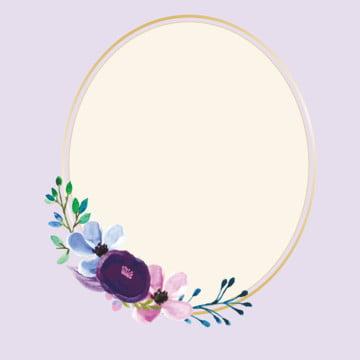 moldura de flor dourada violeta , Limites, Colorido, Floral Imagem de fundo