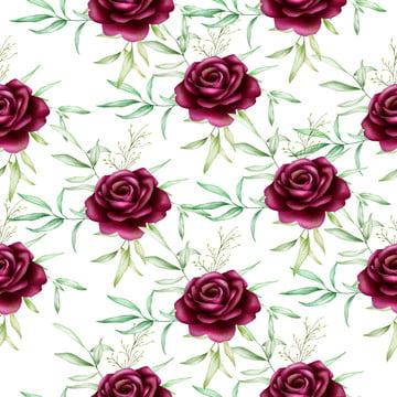 美しいシームレスなパターン水彩花の葉 配置 アート アートワーク 背景画像