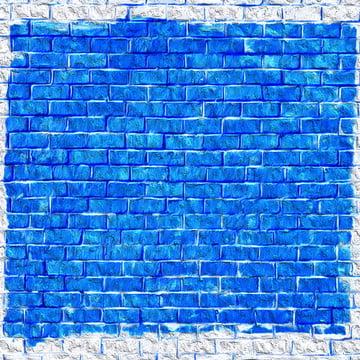 नीले रंग की ईंट पैटर्न पृष्ठभूमि के साथ सफेद किनारों , पृष्ठभूमि, ईंट, ईंटों पृष्ठभूमि छवि